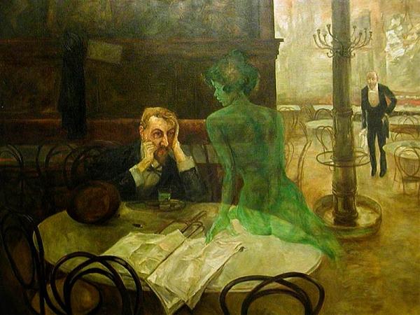 Зелёная фея абсента, ядовитая муза богемы. (Фото 30)
