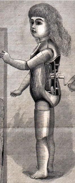 Первая говорящая кукла. (автоматон-фонограф Томаса Алвы Эдисона).