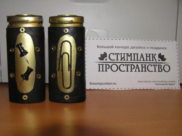 Скрепочница и кнопочница (стимпанк пространство) (Фото 8)