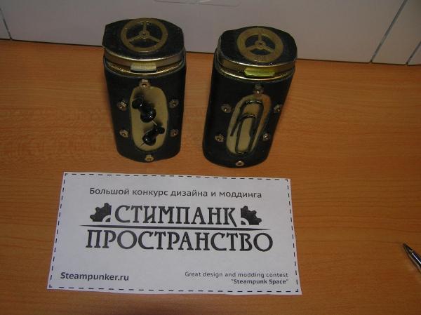 Скрепочница и кнопочница (стимпанк пространство) (Фото 9)