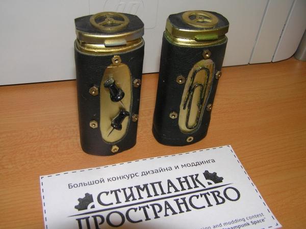 Скрепочница и кнопочница (стимпанк пространство) (Фото 10)