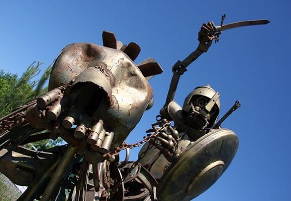 Статуи из металлома-ЗАТО Светлый