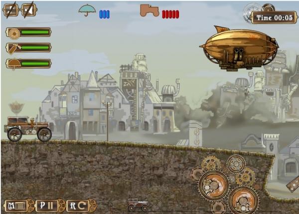 Игра Приключения стимпанк машины