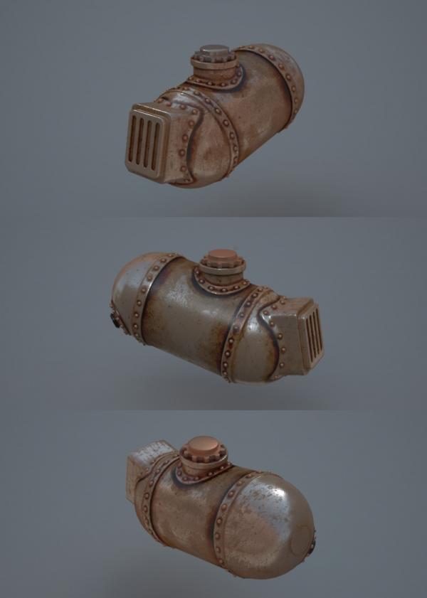 Steampunk Chopper-Bike - Чоппер в стиле Стимпанк 3D WIP Часть 2 (Фото 6)