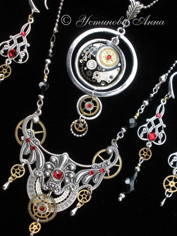 -Steampunk- Украшения ручной работы от мастера Устиновой Анны (продолжение, опять много новых работ:)... (Фото 32)