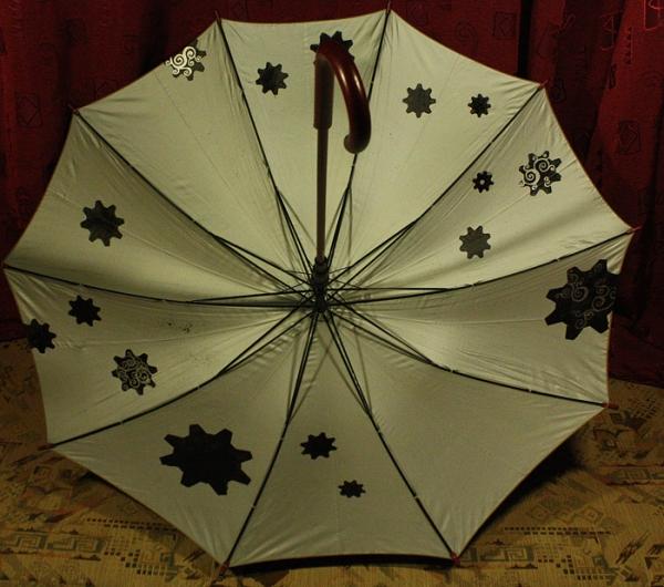"""Зонт с авторской росписью в стиле стимпанк """"Бабочка"""" (Фото 7)"""