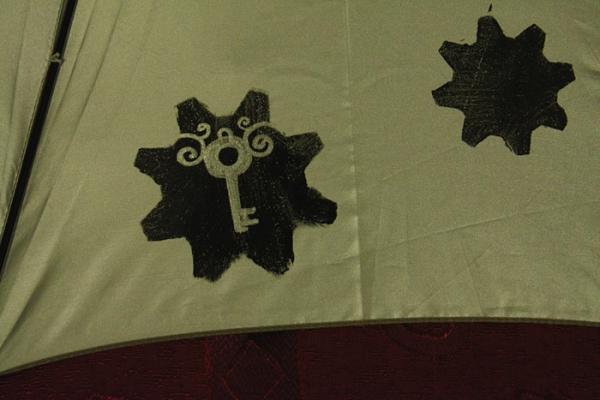 """Зонт с авторской росписью в стиле стимпанк """"Бабочка"""" (Фото 8)"""
