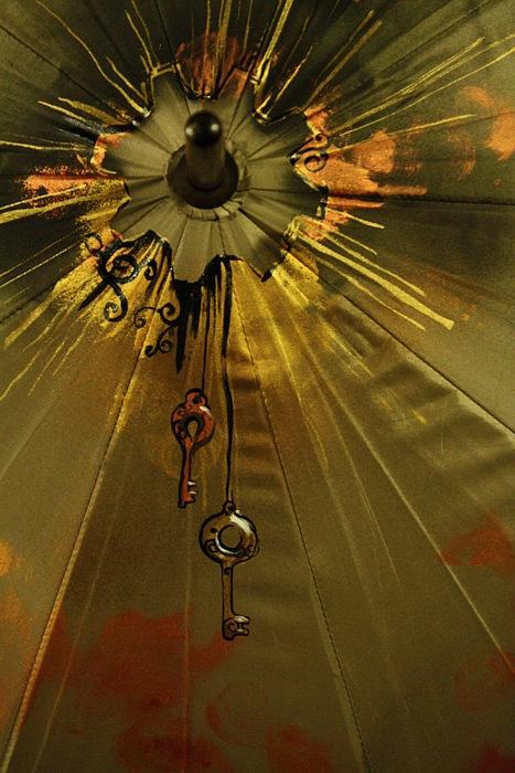 """Зонт с авторской росписью в стиле стимпанк """"Бабочка"""" (Фото 5)"""