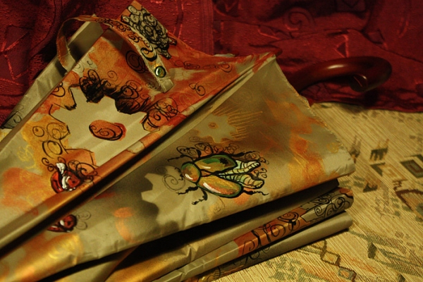 """Зонт с авторской росписью в стиле стимпанк """"Бабочка"""" (Фото 13)"""