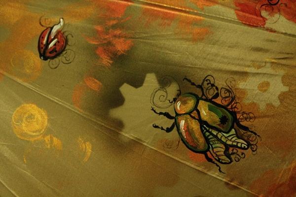 """Зонт с авторской росписью в стиле стимпанк """"Бабочка"""" (Фото 4)"""