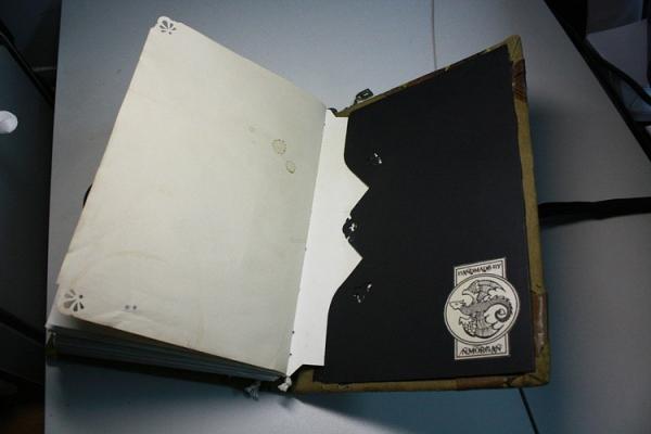 """Рукодельная книга под простым названием """"Стимпанк"""" (Фото 12)"""
