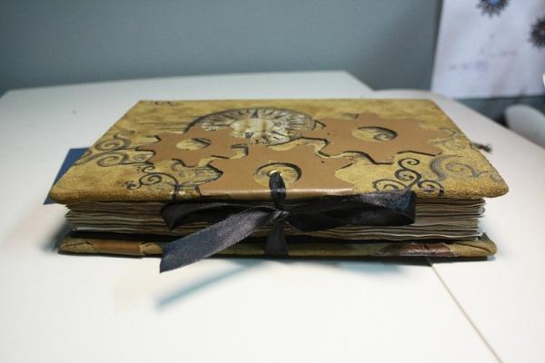 """Рукодельная книга под простым названием """"Стимпанк"""" (Фото 5)"""