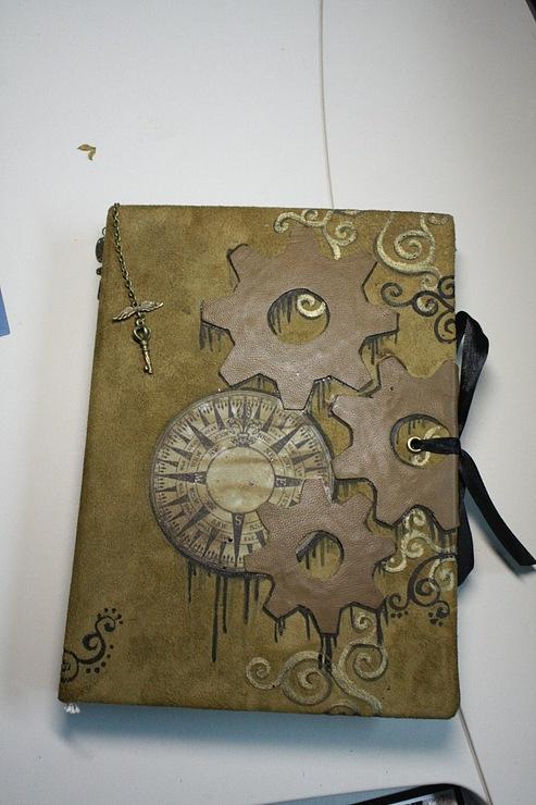 """Рукодельная книга под простым названием """"Стимпанк"""" (Фото 2)"""