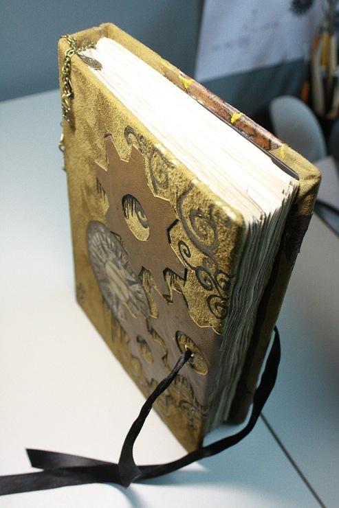 """Рукодельная книга под простым названием """"Стимпанк"""" (Фото 16)"""