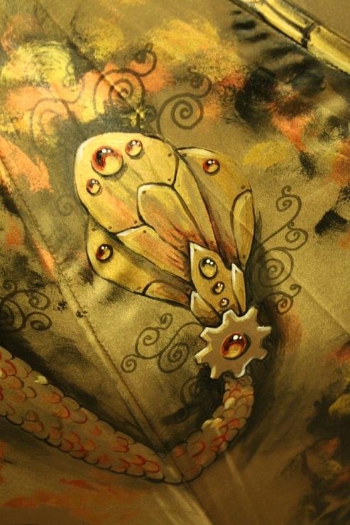 Продолжая тему росписи на зонтах в стиле стимпанк... (Фото 8)
