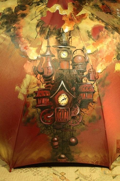 Продолжая тему росписи на зонтах в стиле стимпанк... (Фото 14)