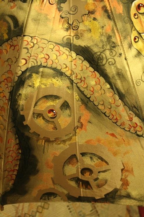 Продолжая тему росписи на зонтах в стиле стимпанк... (Фото 9)