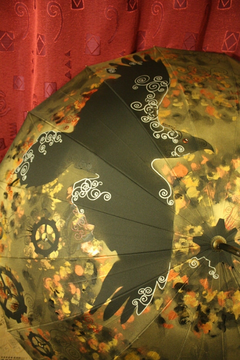 Продолжая тему росписи на зонтах в стиле стимпанк... (Фото 30)