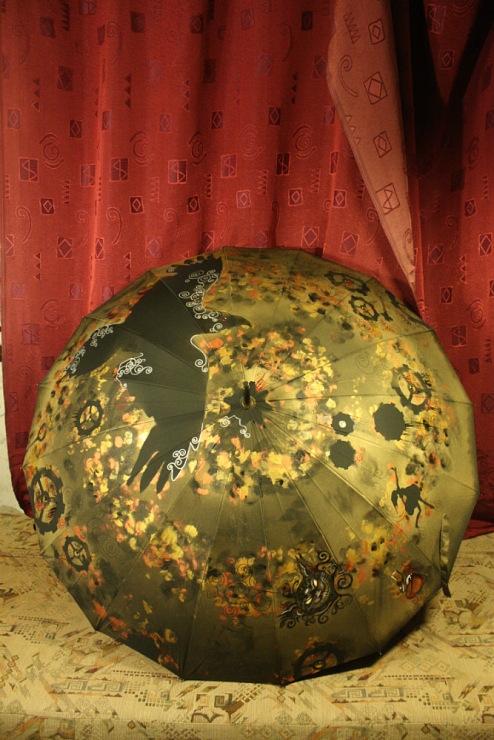 Продолжая тему росписи на зонтах в стиле стимпанк... (Фото 29)