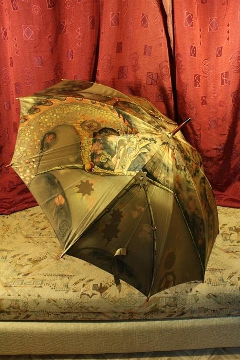 Продолжая тему росписи на зонтах в стиле стимпанк... (Фото 11)