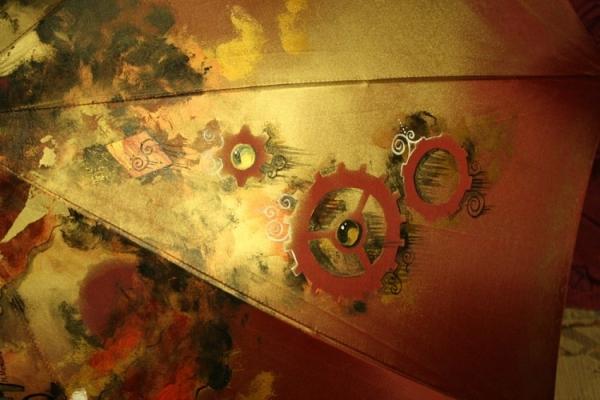 Продолжая тему росписи на зонтах в стиле стимпанк... (Фото 19)