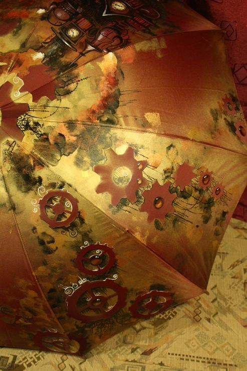 Продолжая тему росписи на зонтах в стиле стимпанк... (Фото 20)