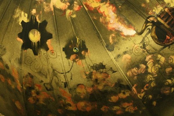 Продолжая тему росписи на зонтах в стиле стимпанк... (Фото 26)
