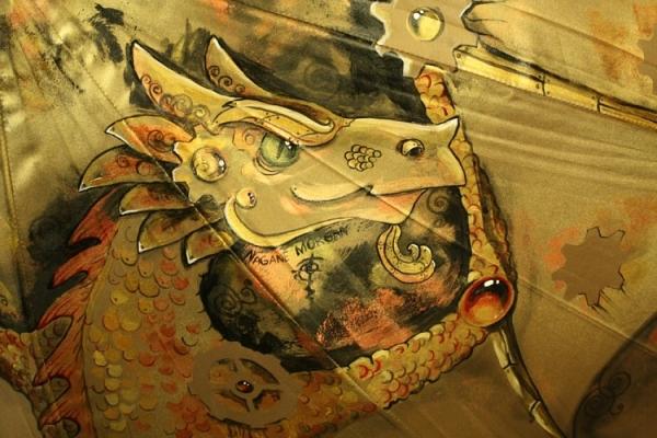Продолжая тему росписи на зонтах в стиле стимпанк... (Фото 7)