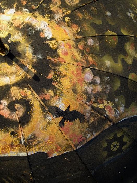 Продолжая тему росписи на зонтах в стиле стимпанк... (Фото 5)
