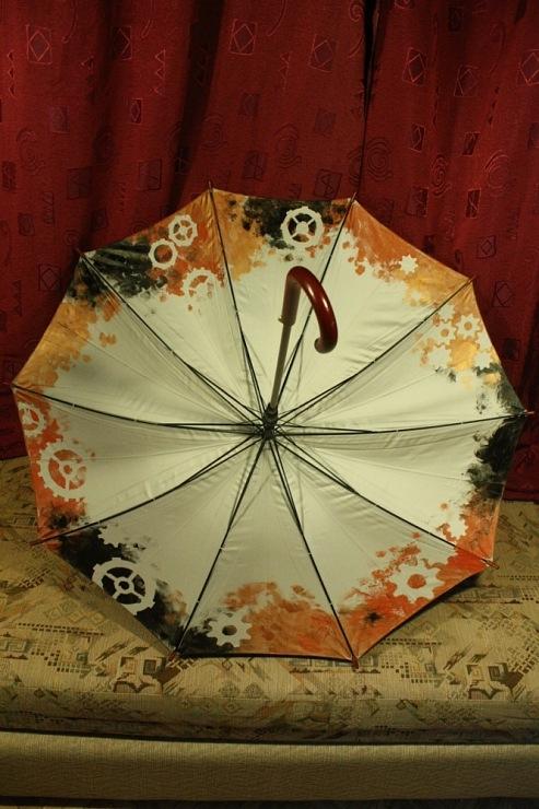 Продолжая тему росписи на зонтах в стиле стимпанк... (Фото 12)