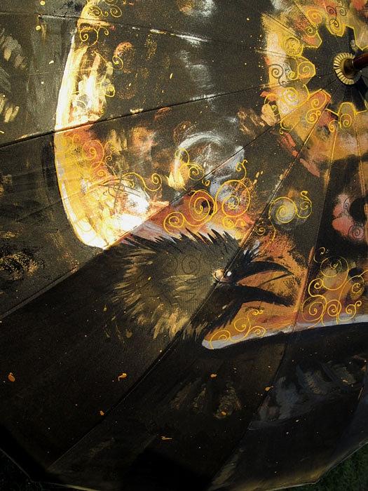 Продолжая тему росписи на зонтах в стиле стимпанк...