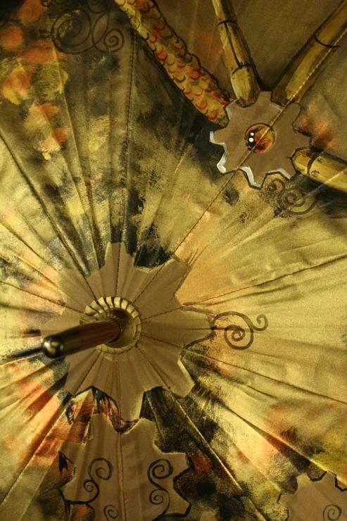 Продолжая тему росписи на зонтах в стиле стимпанк... (Фото 10)