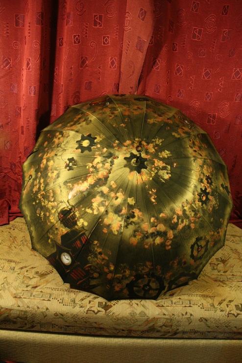 Продолжая тему росписи на зонтах в стиле стимпанк... (Фото 21)