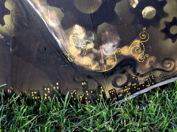 Продолжая тему росписи на зонтах в стиле стимпанк... (Фото 3)