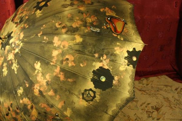 Продолжая тему росписи на зонтах в стиле стимпанк... (Фото 25)
