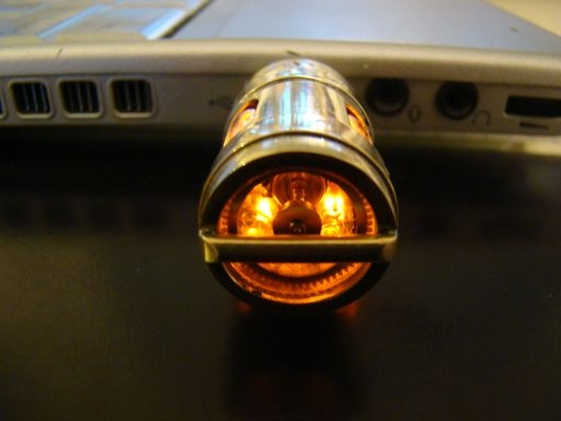 Латунь, мотор, лампы.