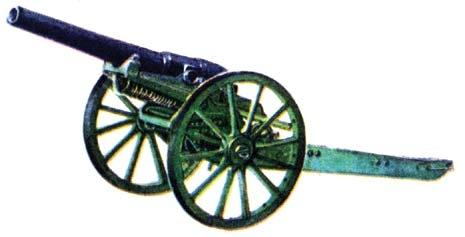Скорострельная пушка В С Барановского на лафете системы П В Барановского