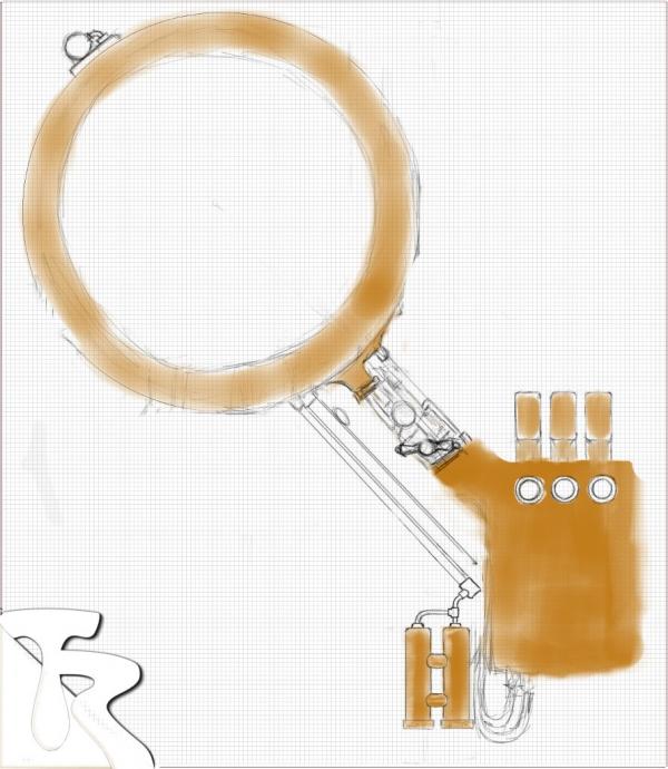 Эскиз первого варианта часового корпуса.