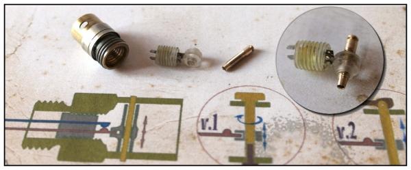 контакты включателя подсветки компаса