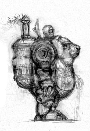 П.О.Т.А.П.  - Паровой  Одноместный  Транспортёр – Автомат Прямоходящий (Фото 2)