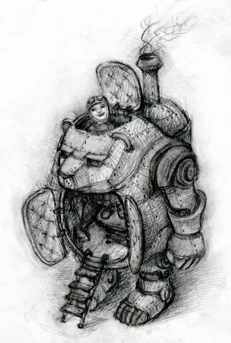 П.О.Т.А.П.  - Паровой  Одноместный  Транспортёр – Автомат Прямоходящий (Фото 4)