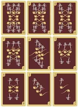 Задел колоды игральных карт (в соответствующем стиле). (Фото 2)