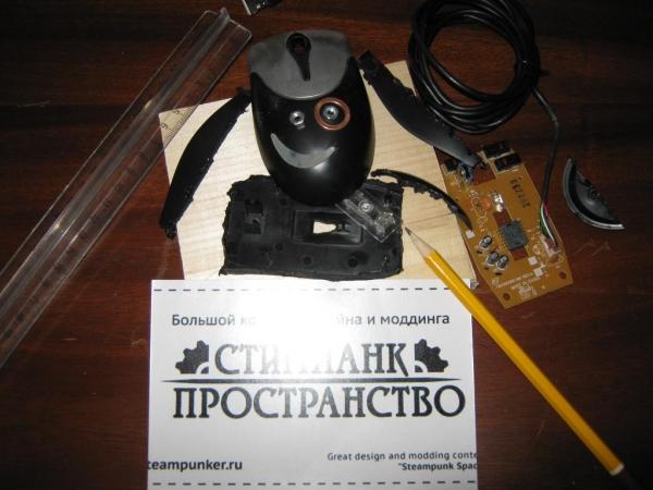 Steampunk компьтютерная мышь. (Фото 4)