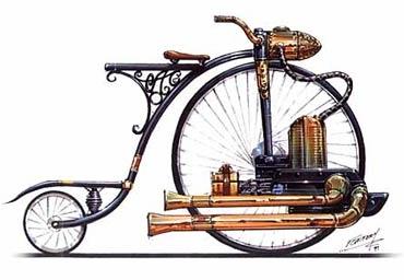 Велосипеды и паровые бициклы: фантазия и реальность