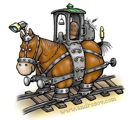 Протостимпанковый локомотив