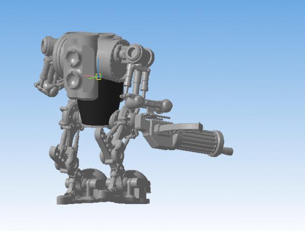 Проба пера в 3D моделировании - II. Паровой автоматон.