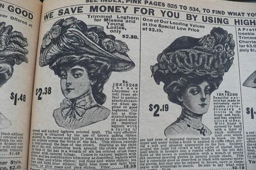 Женские шляпы из каталога sears 1908 (Фото 3)