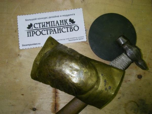 Мышка латунно-деревянная)) (Фото 5)