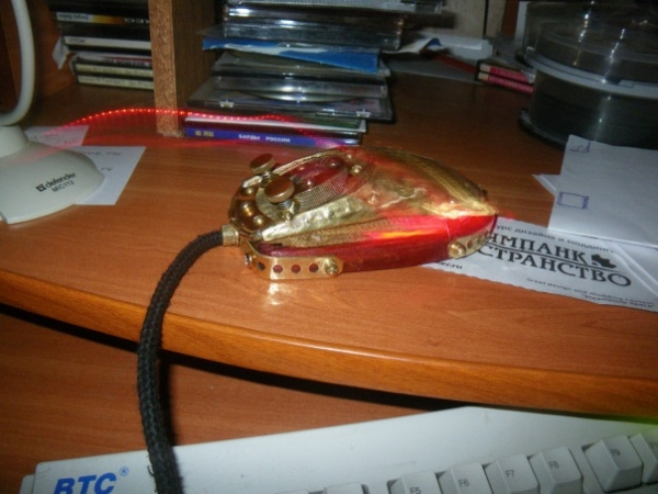 Мышка латунно-деревянная)) (Фото 28)