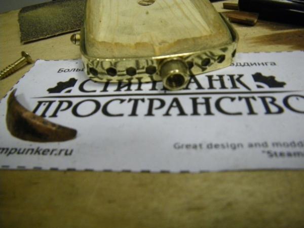 Мышка латунно-деревянная)) (Фото 20)